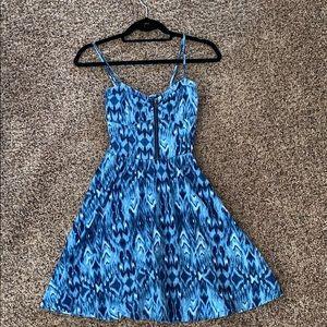 Blue Pattern Aeropostale Dress